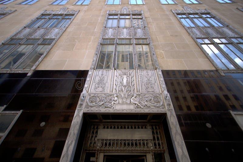 历史建筑在现代城市俄克拉何马 免版税库存照片