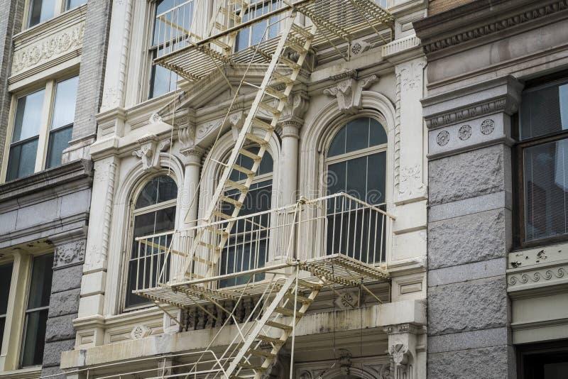 历史建筑在纽约城的苏豪区区 库存图片