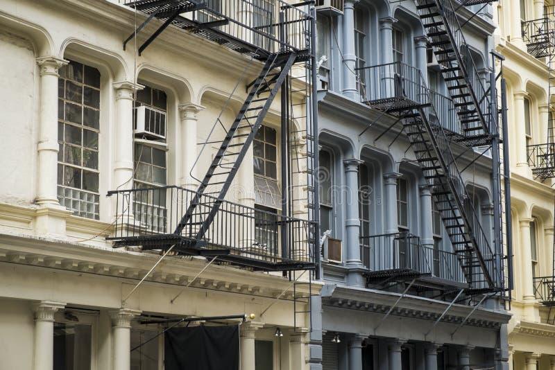历史建筑在纽约城的苏豪区区 库存照片