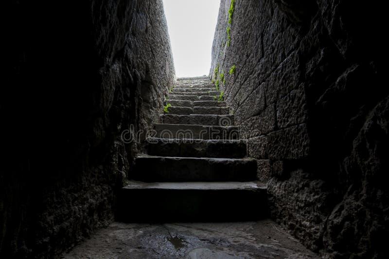 历史enterance石头平板台阶 免版税图库摄影