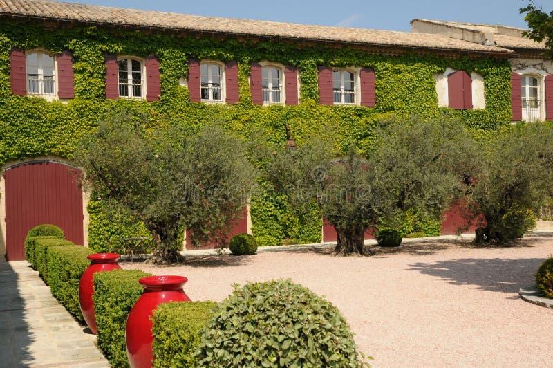 历史Estoublon城堡在Fontvieille 免版税库存图片
