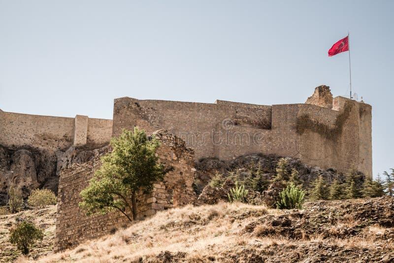 历史Harput城堡在埃拉泽,土耳其 免版税库存照片