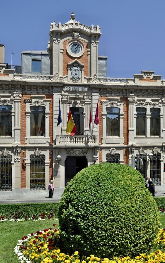 历史townhall在阿尔瓦萨特-西班牙 库存图片