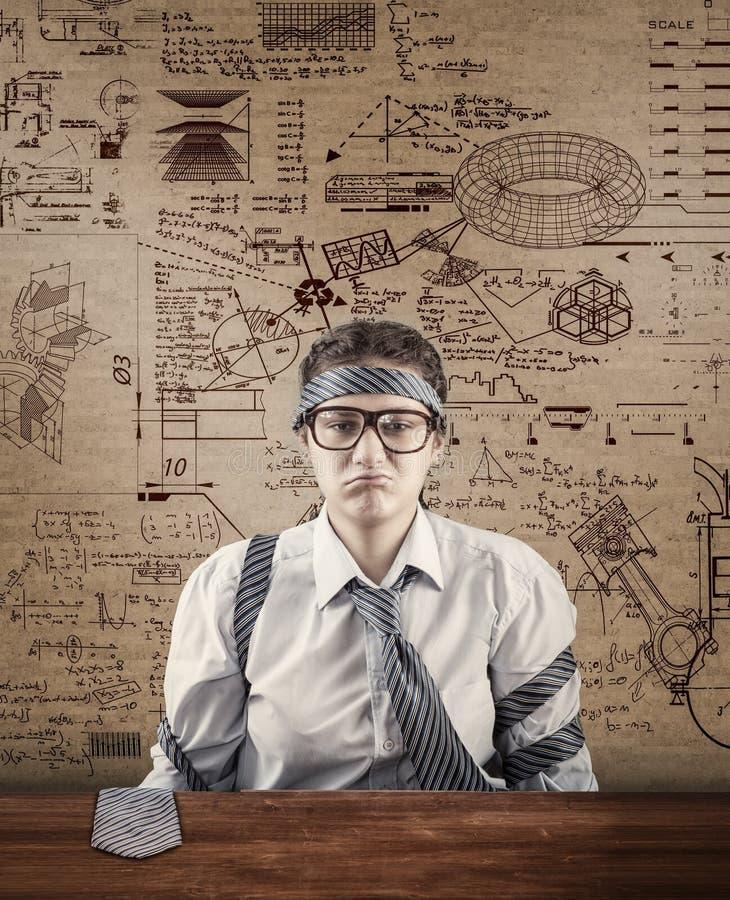 压倒多数任务 劳累过度的雇员的概念 库存照片