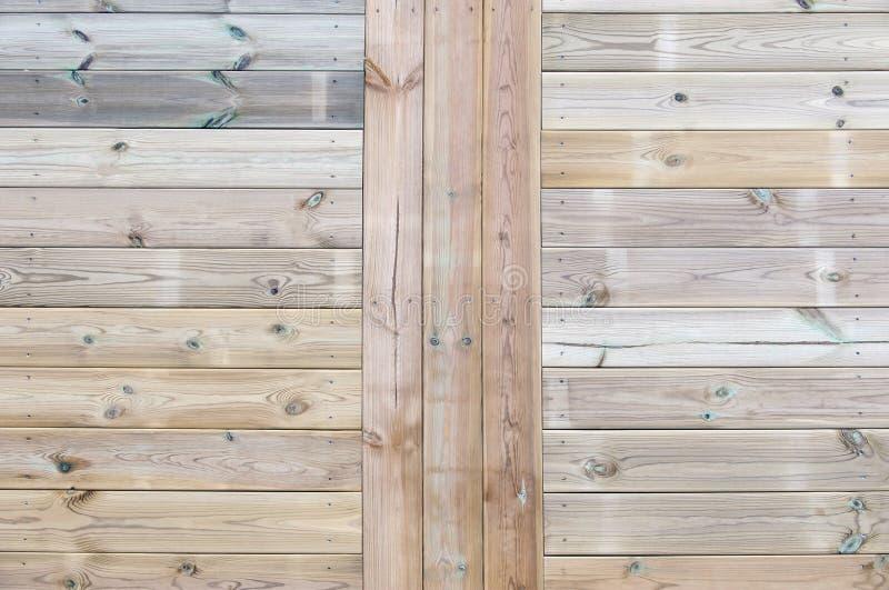 压力对待了木甲板地板纹理 免版税图库摄影