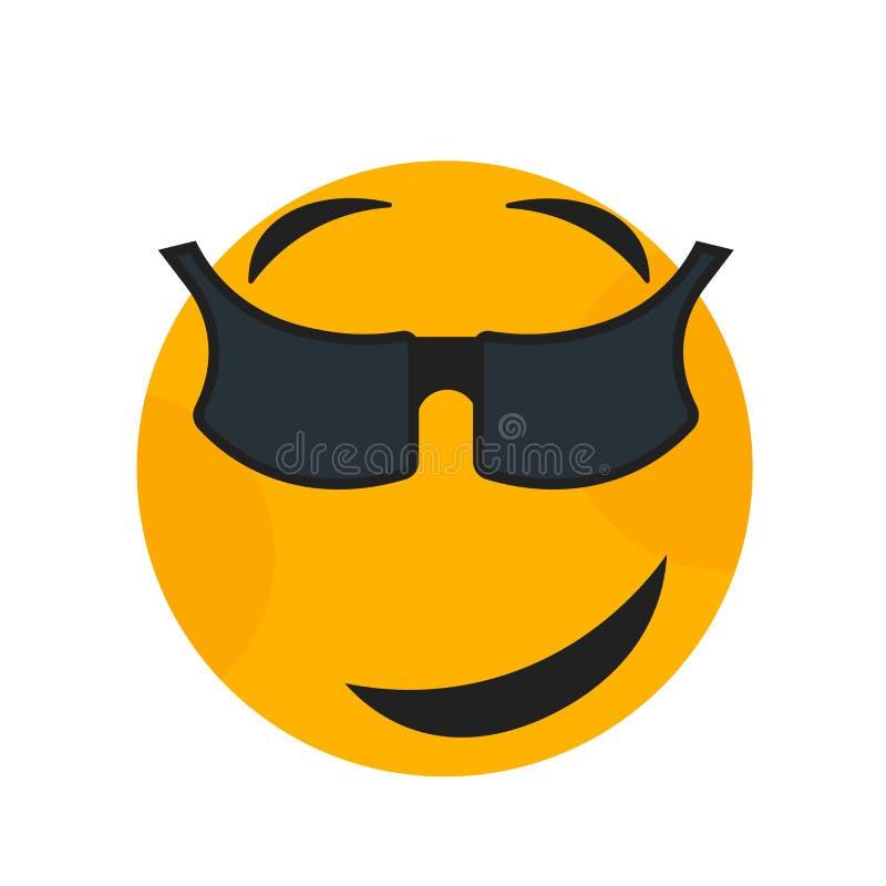 压力微笑象在白色背景和标志隔绝的传染媒介标志,压力微笑商标概念 皇族释放例证