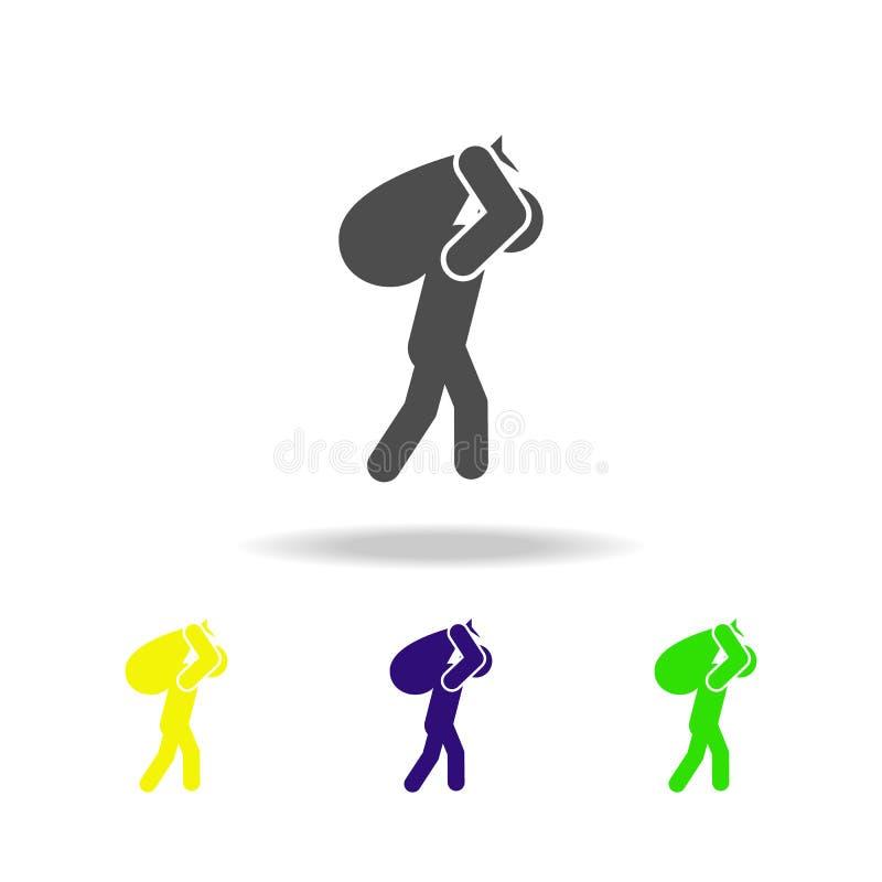 压力色的象 被克服的挑战例证的元素 标志和标志汇集象网站的,网络设计 库存例证
