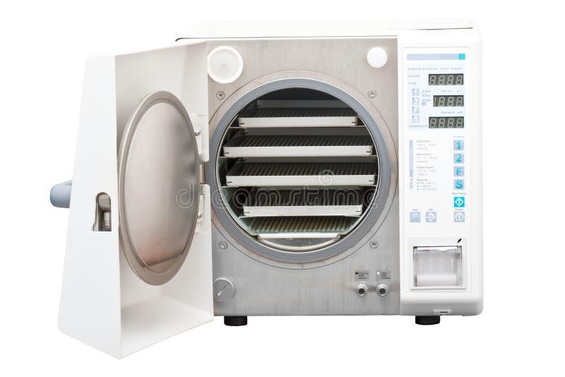 压热器使用的牙科消毒器 免版税库存照片