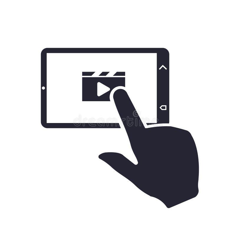 压片象在白色背景和标志隔绝的传染媒介标志,片剂商标概念 皇族释放例证
