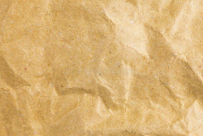 压皱纸纹理背景 免版税图库摄影