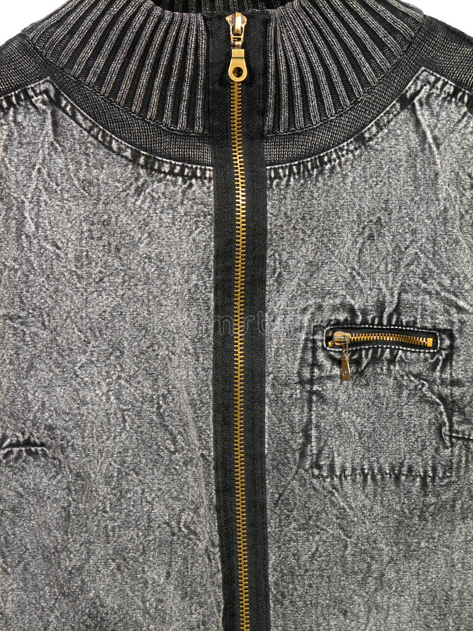 压缩的夹克斜纹布 库存照片