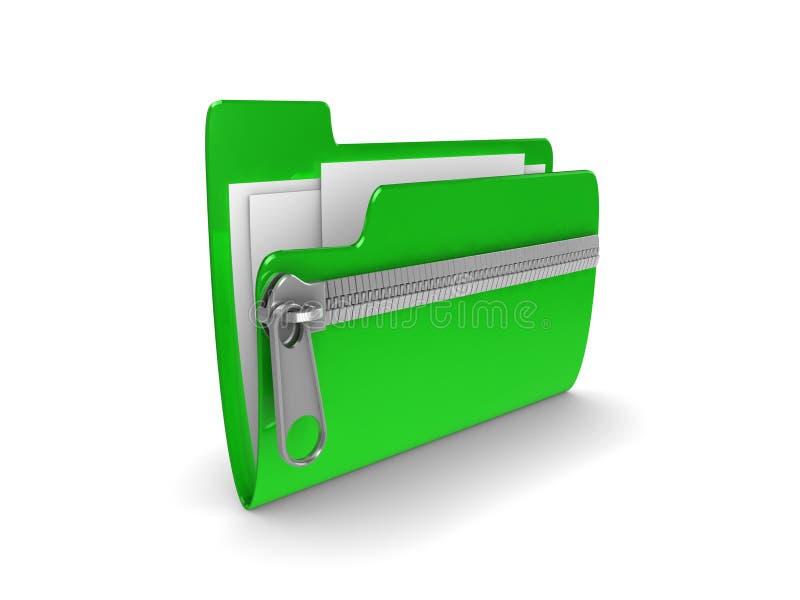 压缩的文件夹 向量例证