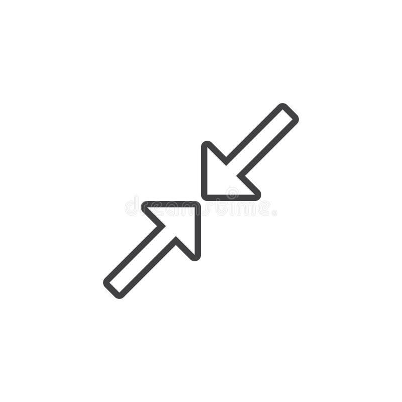 压缩线象,使概述商标例证, l减到最小 库存例证