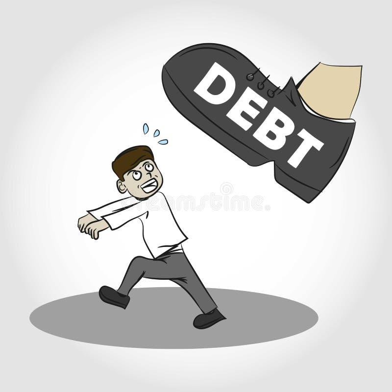 压迫由债务例证 库存例证