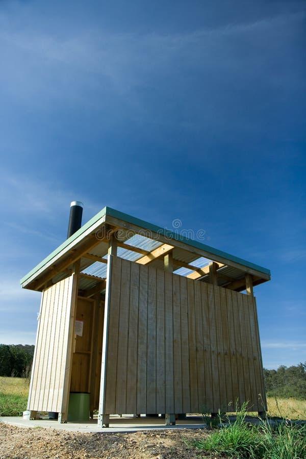 厕所新的澳洲内地纵向 免版税库存照片