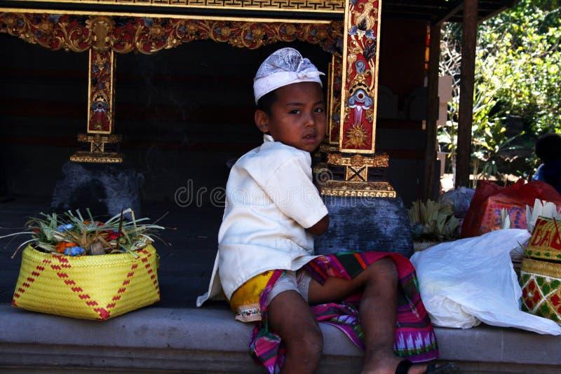 巴厘岛儿童画象 免版税图库摄影