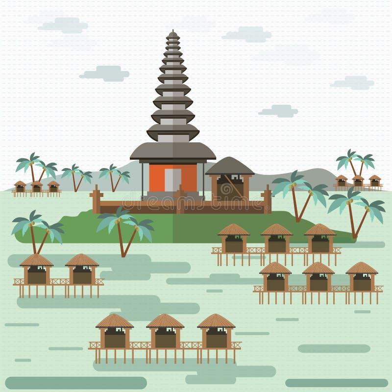 巴厘岛印度尼西亚 向量例证