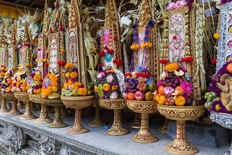 巴厘岛寺庙奉献物 免版税图库摄影