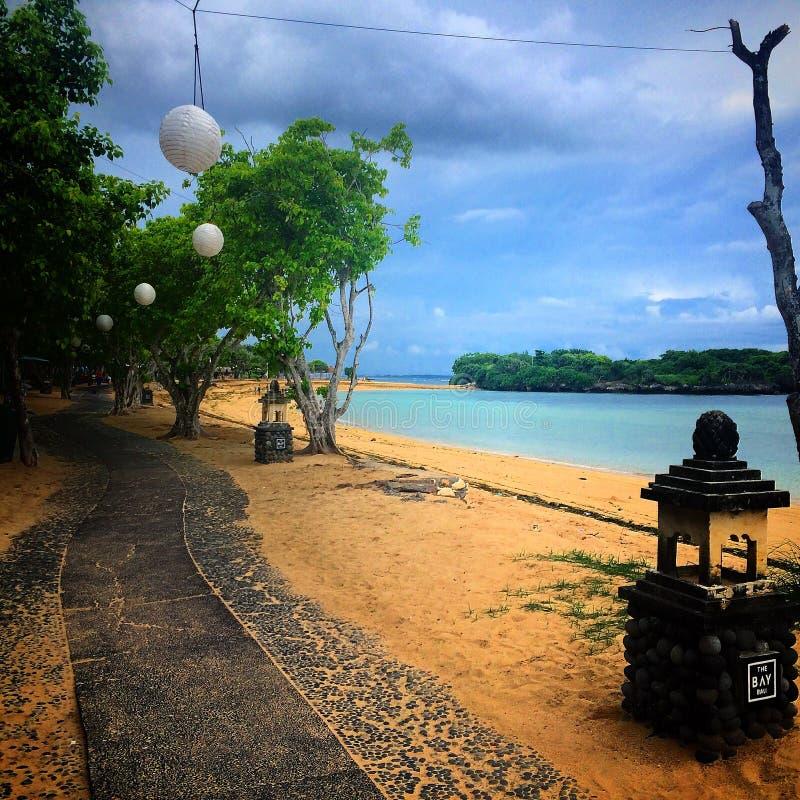巴厘岛海湾海滩 库存图片