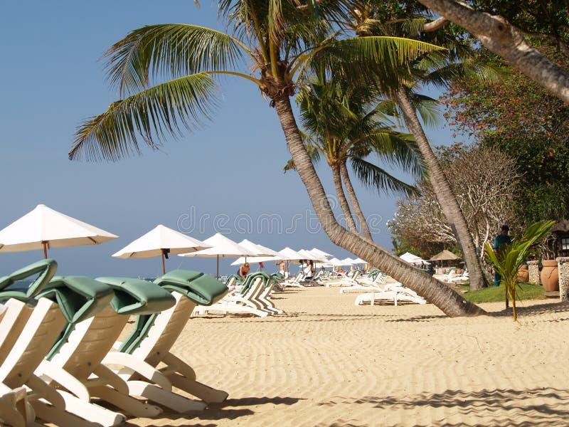 巴厘岛海滩萨努尔 免版税库存照片