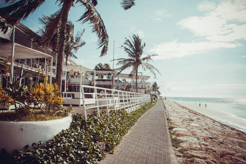 巴厘岛海滩kuta 库存图片