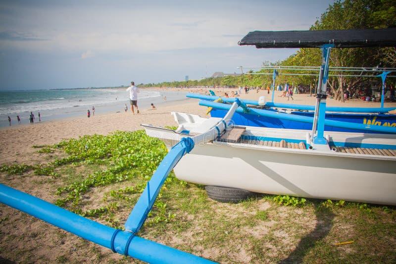 巴厘岛海滩kuta 库存照片