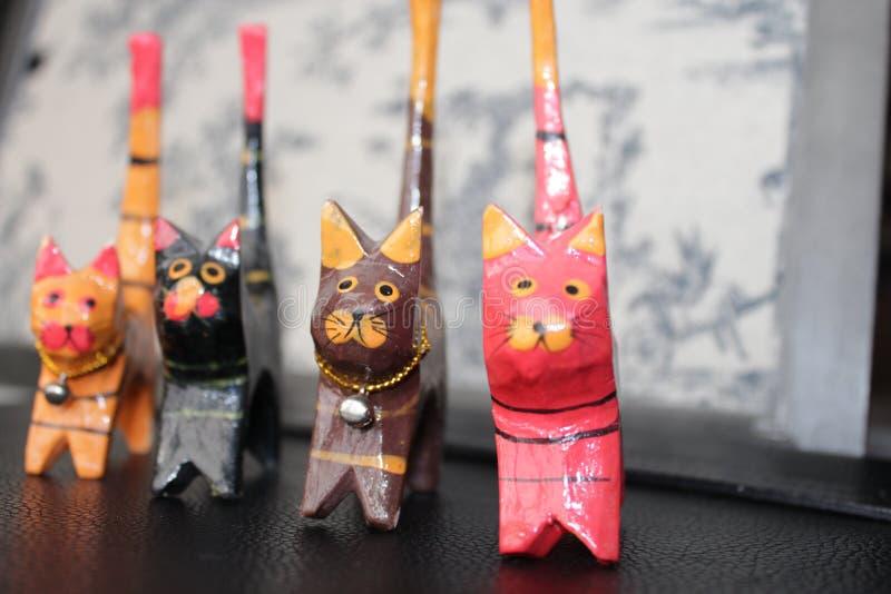 从巴厘岛的滑稽的猫 免版税库存图片
