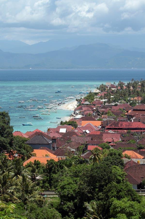 巴厘岛鸟瞰图  免版税库存图片