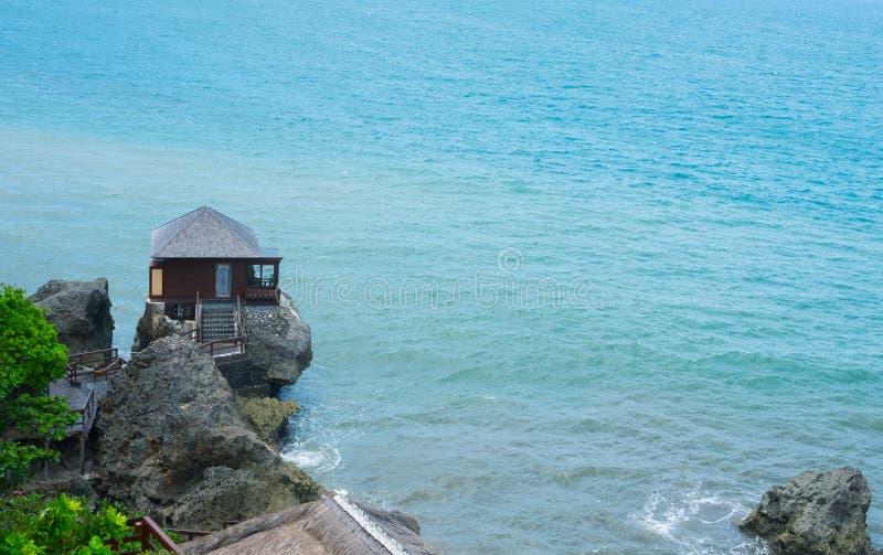 巴厘岛,印度尼西亚, 2016年12月:在上面的私有别墅  库存图片