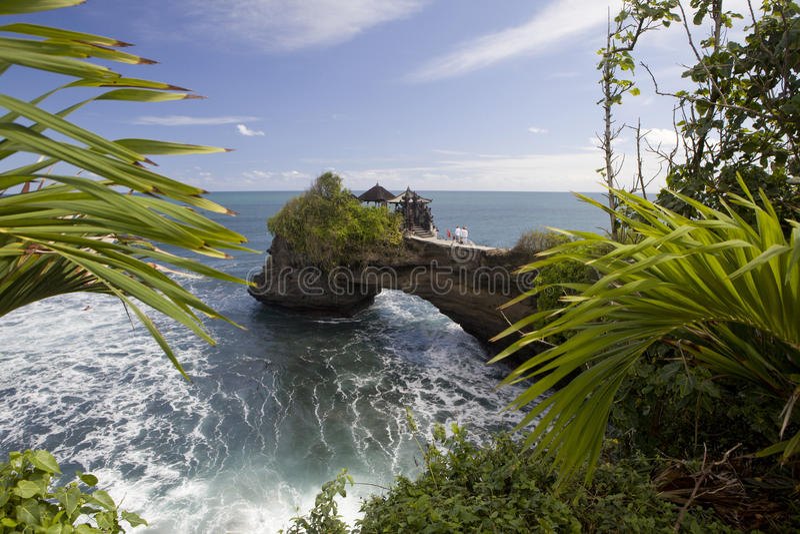巴厘岛,寺庙Tanah全部 库存图片