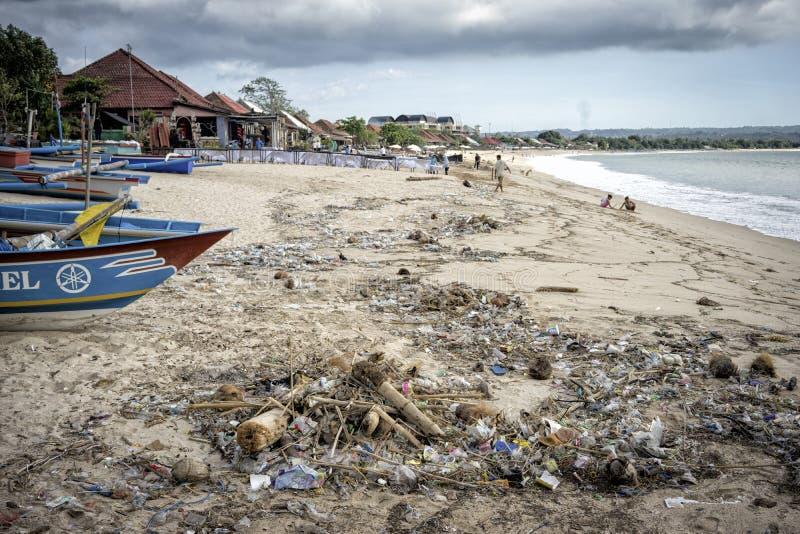 巴厘岛-污染 免版税库存图片