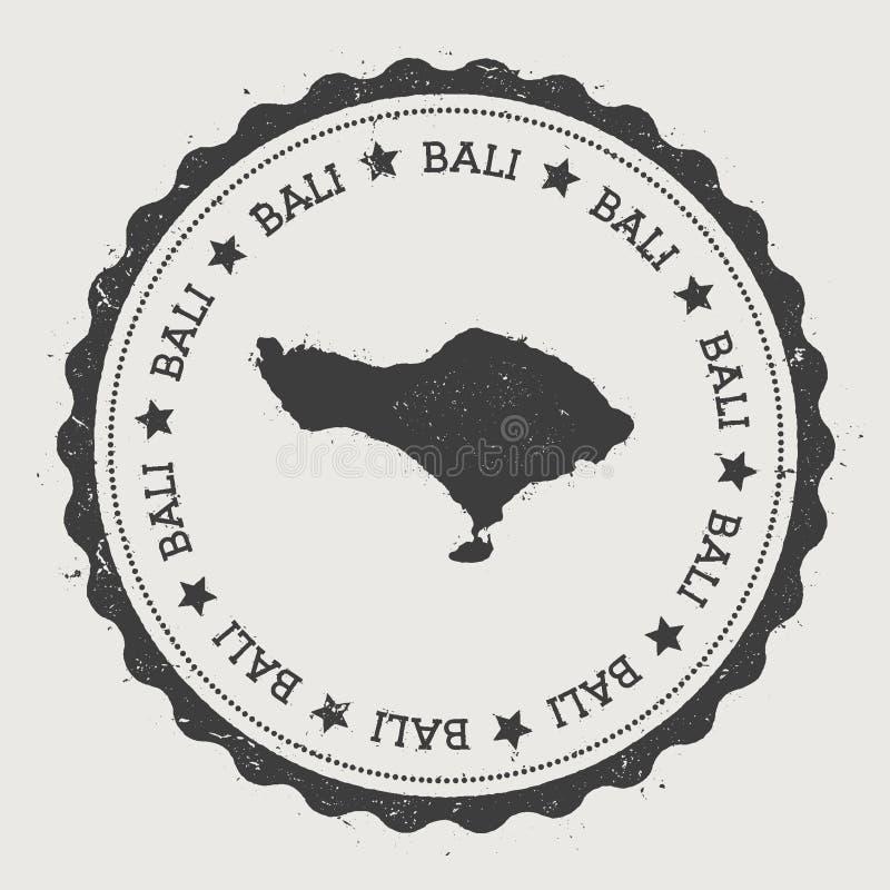巴厘岛贴纸 向量例证