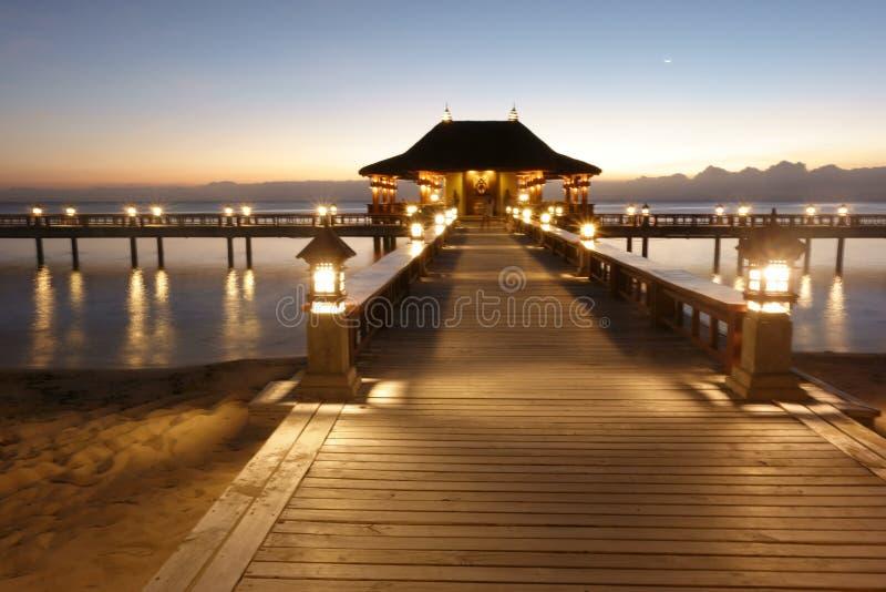 巴厘岛主题的beachport 免版税图库摄影