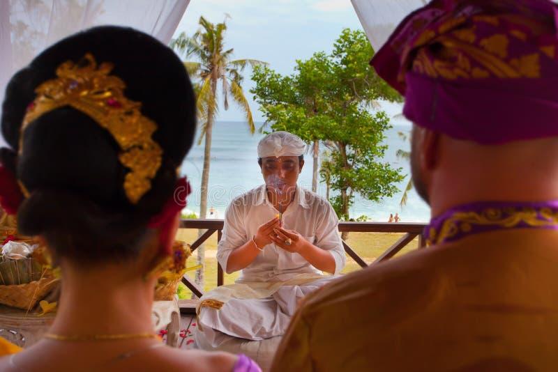巴厘语婚礼 免版税库存图片