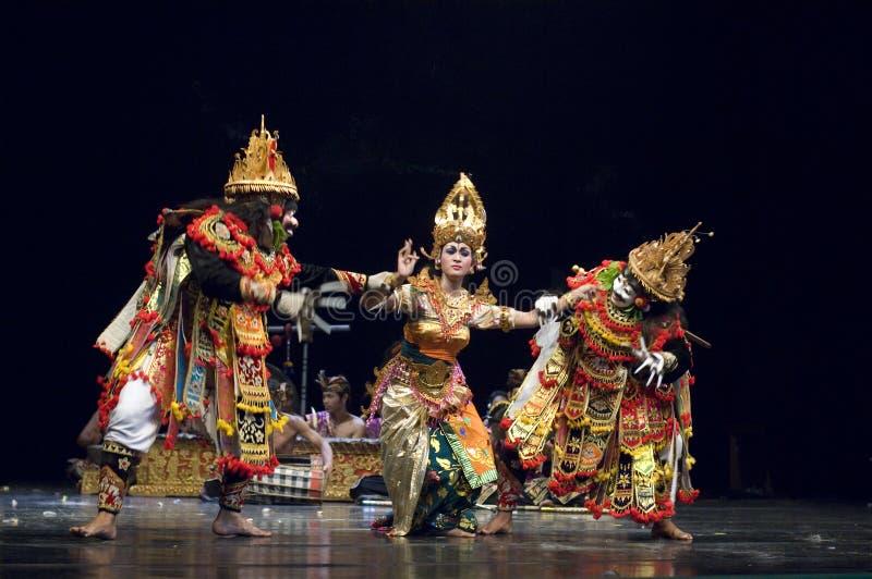 巴厘语舞蹈 库存图片
