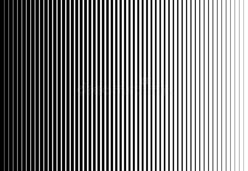 厚实变薄的垂直的速度线半音样式 r 向量例证