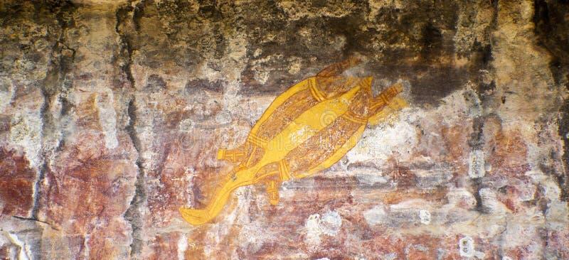原史岩石艺术 库存图片