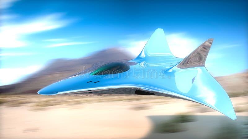 原型在3d的战斗机 向量例证