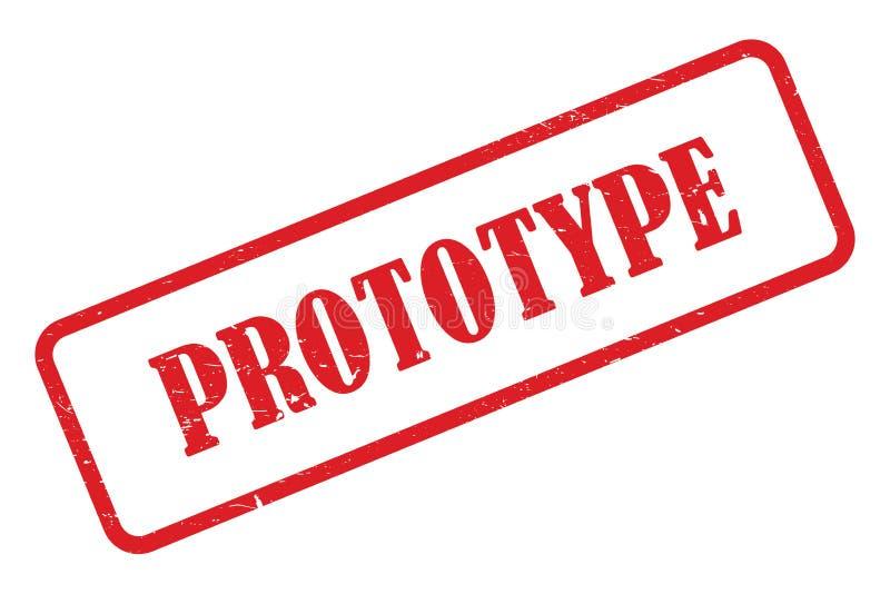 原型邮票 向量例证