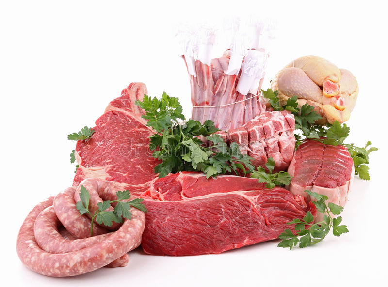 原始查出的肉 免版税库存图片
