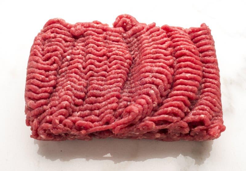 原始汉堡包的肉 图库摄影