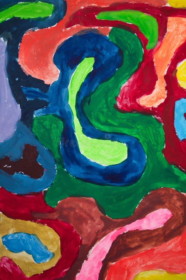 原始的五颜六色的绘的背景 库存照片