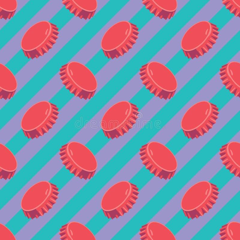 原始的几何现代流行音乐艺术桶盖样式 皇族释放例证