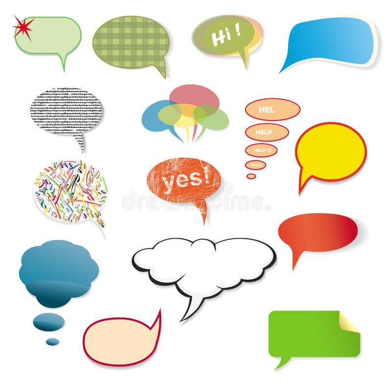 原始的各种各样的讲话泡影 向量例证
