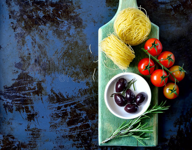 原始的意大利面食 图库摄影
