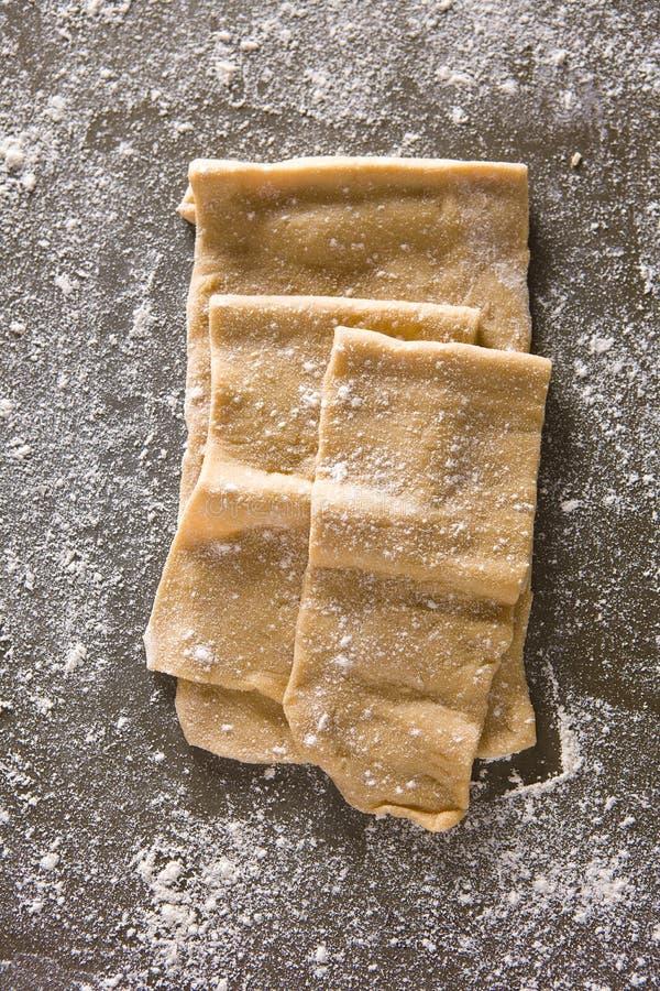 原始的意大利面食 库存照片
