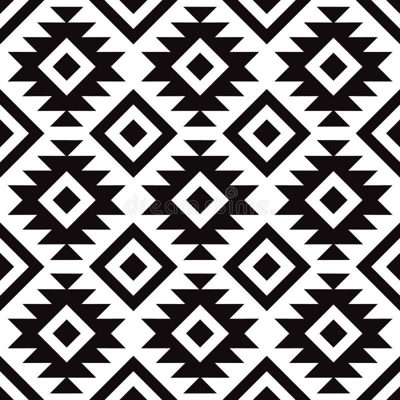 原始的斯堪的纳维亚现代黑白样式 库存例证