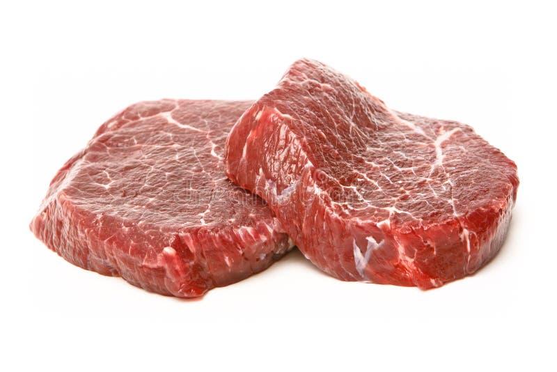 原始的新鲜的牛肉 库存照片