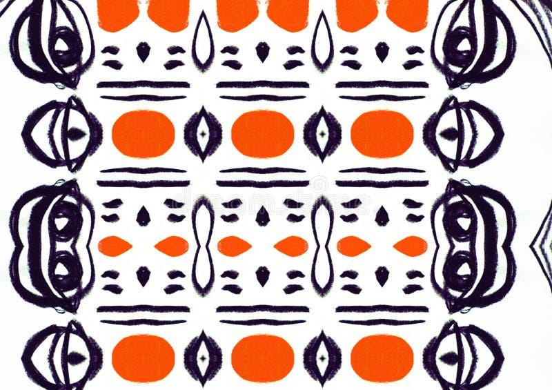 原始的样式白色橙色黑空间 库存照片