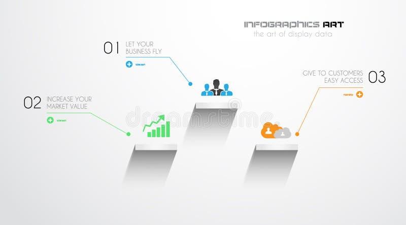 原始的样式Infographics模板 库存例证